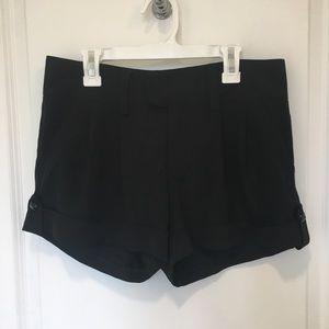 Alice + Olivia pleated silk shorts